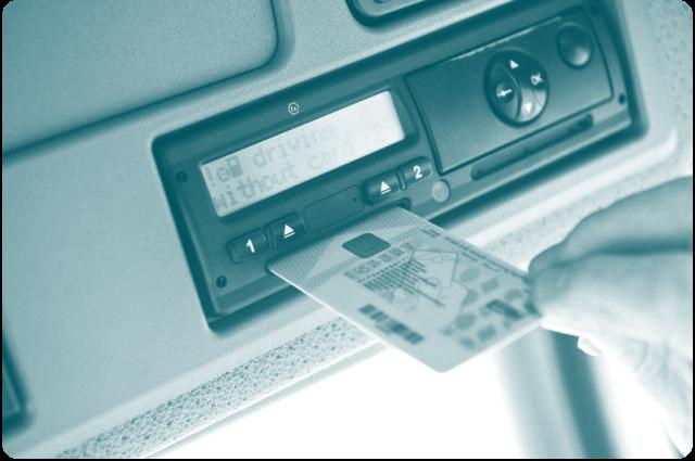 Tachograafkaart in tachograaf