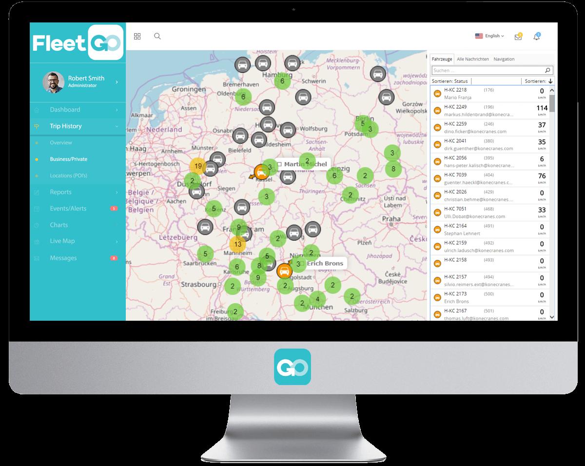 FleetGO Realtime kaart GPS Track en Trace-systeem