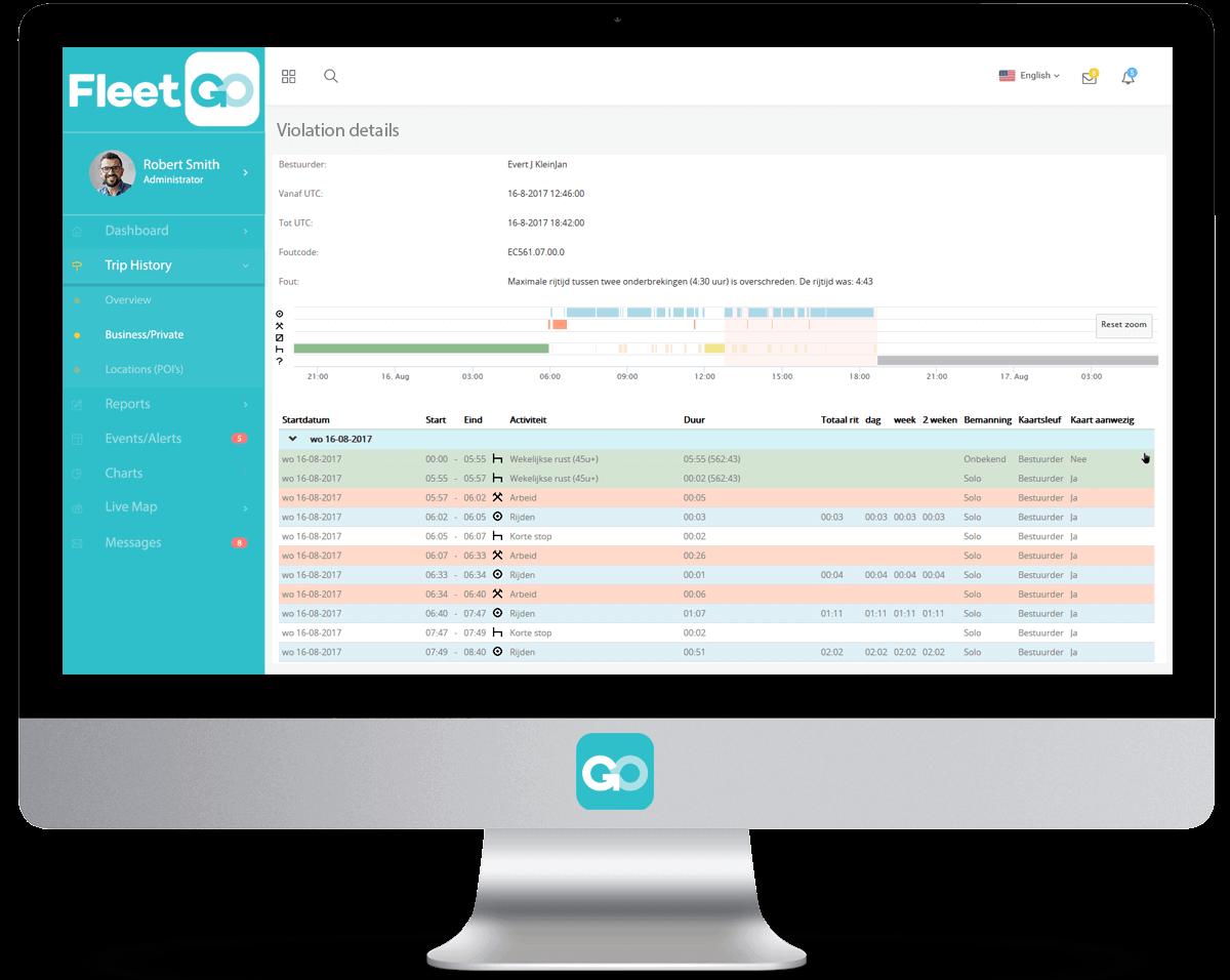 FleetGO Remote Tacho Download Tachograaf-compliance