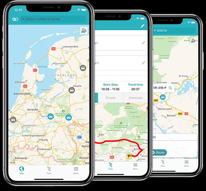 mobiele-app FleetGO